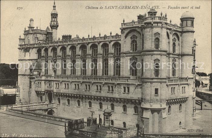 Saint Germain en Laye Chateau Facades ouest et sud Kat. Saint Germain en Laye