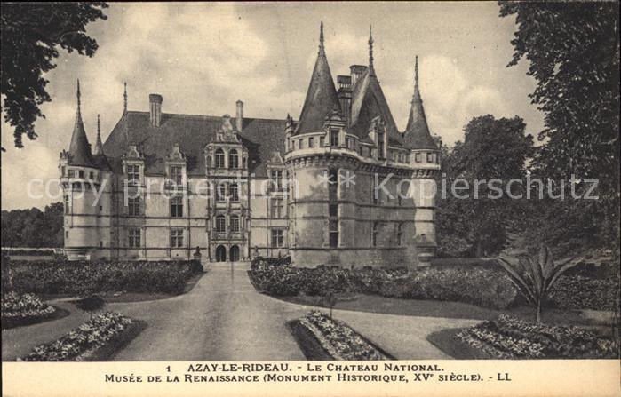 Azay le Rideau Chateau National Musee de la Renaissance Monument ...