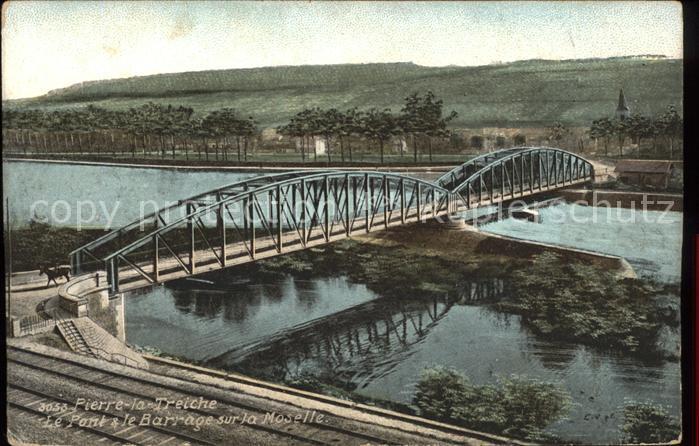 Pierre la Treiche Pont et le Barrage sur la Moselle Kat. Pierre la Treiche