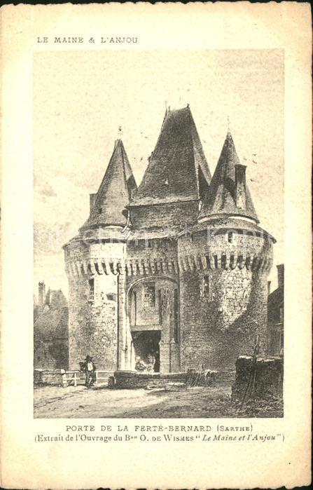 La Ferte Bernard Porte de la ville Ouvrage Wismes