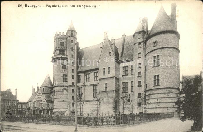 Bourges Facade Sud du Palais Jacques Coeur Kat. Bourges