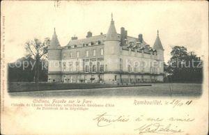 Rambouillet Chateau Facade sur le Parc Kat. Rambouillet