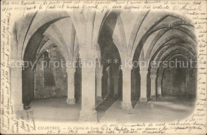 Chartres Eure et Loir Le Cloitre de Loens Kat. Chartres