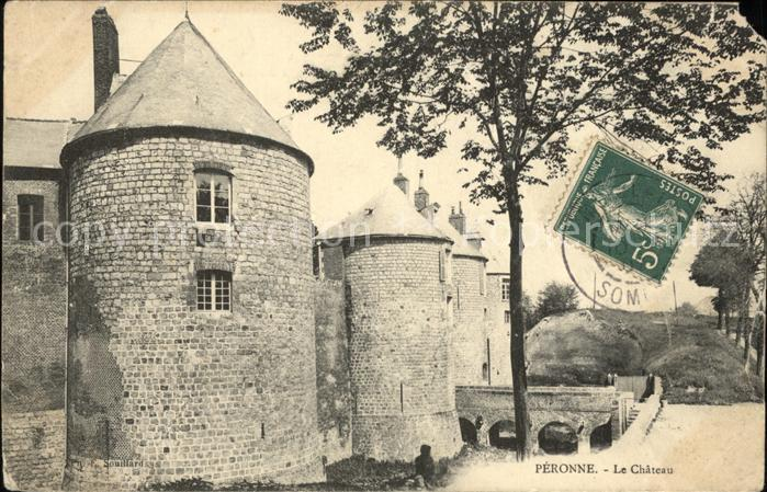 Peronne Somme Chateau Stempel auf AK / Peronne /Arrond. de Peronne