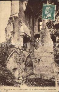 Lavardin Loir et Cher Chateau Ruines Monument Historique Kat. Lavardin