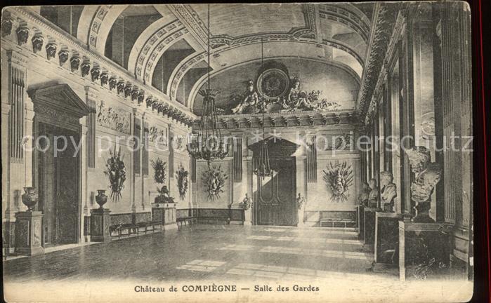 Compiegne Oise Chateau Salle des Gardes Buste Kat. Compiegne