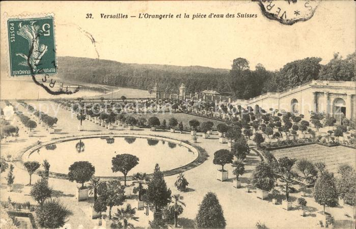 Versailles Yvelines Orangerie et la piece d eau des Suisses Kat. Versailles