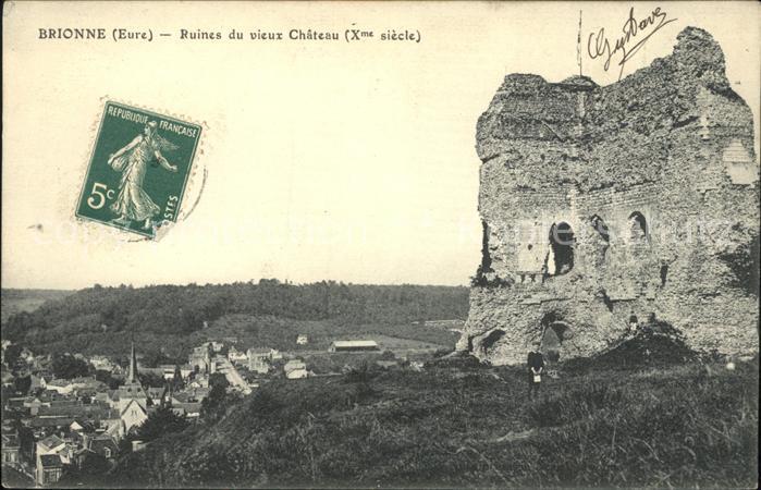 Brionne Ruines du vieux Chateau X siecle Kat. Brionne