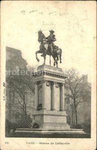 Paris Statue de Lafayette Reiterdenkmal Kat. Paris