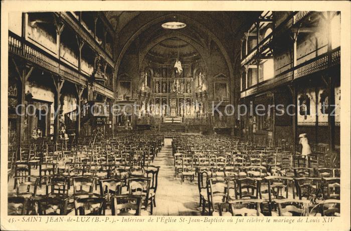 Saint Jean de Luz Interieur de l Eglise Saint Jean Baptiste Louis XIV Kat. Saint Jean de Luz