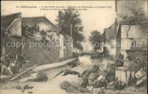 Chateaudun Barricade Defense 1870 Tableau de Philippoteaux Kat. Chateaudun