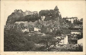 Saint Paul en Cornillon Chateau de Cornillon XV siecle et le village Kat. Saint Paul en Cornillon