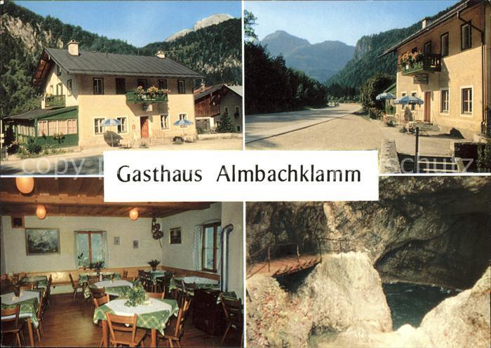 Marktschellenberg Gasthaus Almbachklamm Schlucht Kat. Marktschellenberg