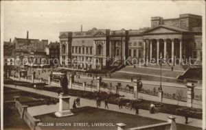 Liverpool William Brown Street Monument Tram Kat. Liverpool