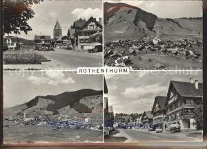 Rothenthurm Gesamtansicht Strassenpartie Turm Fliegeraufnahme Kat. Rothenthurm