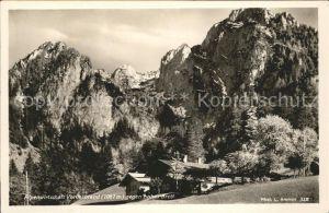Berchtesgaden Alpenwirtschaft Vorderbrand Hohes Brett Kat. Berchtesgaden