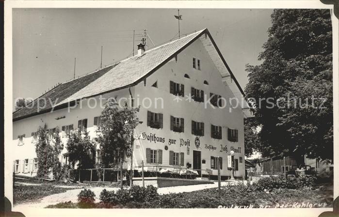 Saulgrub Gasthaus zur Post  Kat. Saulgrub