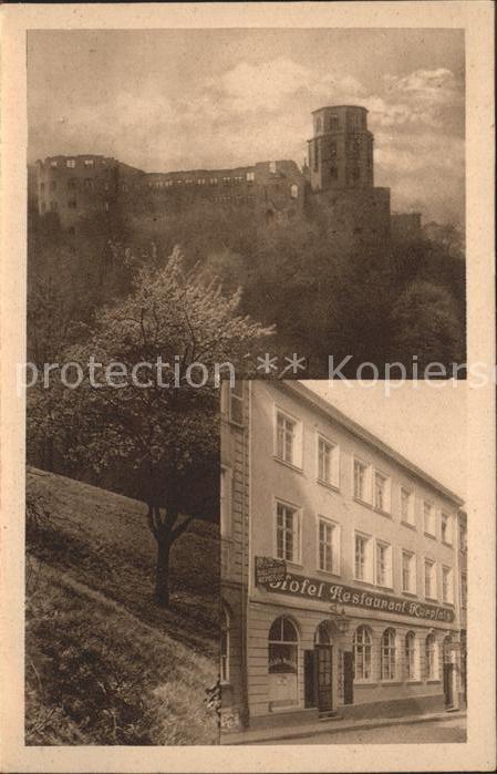 Heidelberg Neckar Hotel Kurpfalz Kallstaedter Weinstube  Kat. Heidelberg