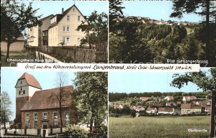 Langenbrand Forbach Kirche Blick auf Langenbrand Dorfpartie Kat. Forbach