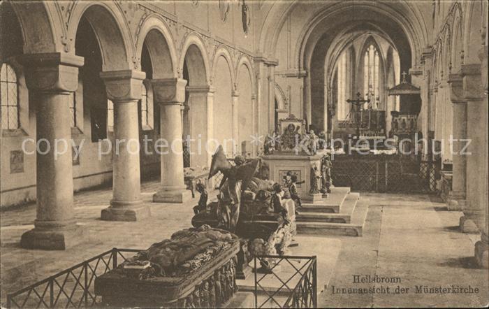 Heilsbronn Muensterkirche Innenansicht Kat. Heilsbronn
