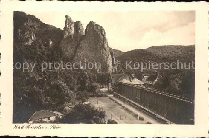 Bad Muenster Stein Ebernburg Blick auf Baederhaus und Rheingrafenstein / Bad Muenster am Stein-Ebernburg /Bad Kreuznach LKR