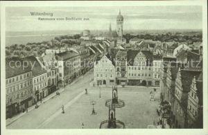 Wittenberg Lutherstadt Panorama vom Stadtturm aus / Wittenberg /Wittenberg LKR