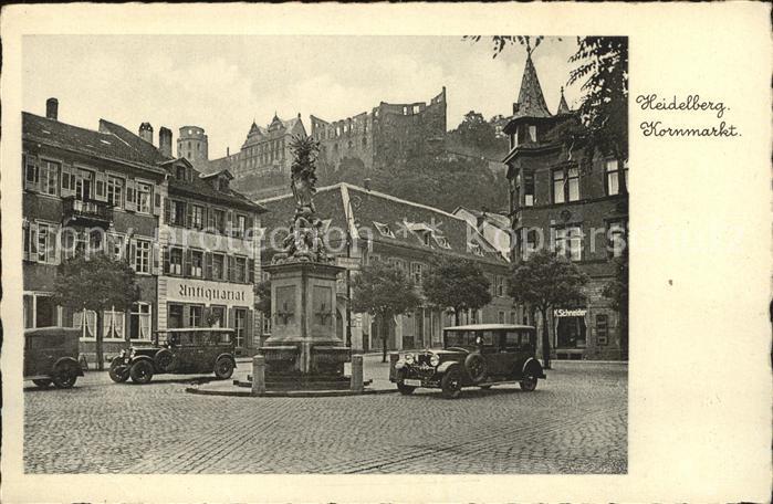 Heidelberg Neckar Kornmarkt Kat. Heidelberg