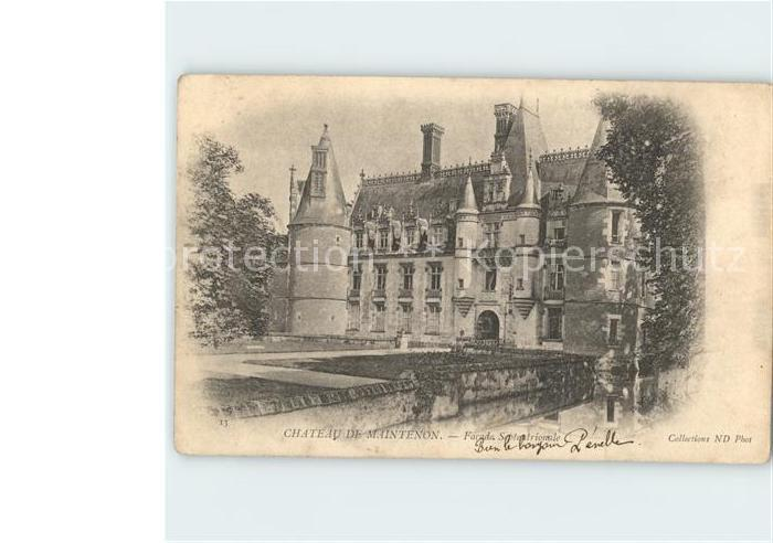 Maintenon Chateau Facade Septentrionale Kat. Maintenon