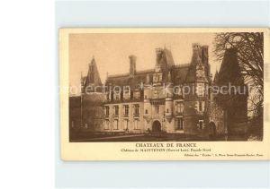 Maintenon Chateau Facade Nord Collection Chateaux de France Kat. Maintenon
