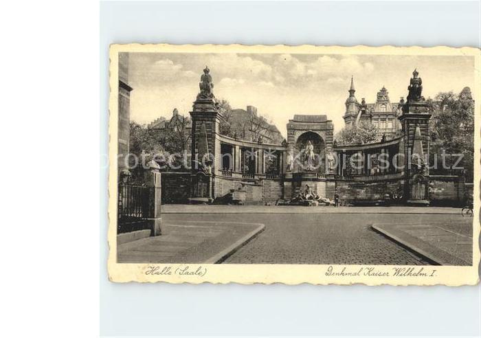 Halle Saale Denkmal Kaiser Wilhelm I Kat. Halle