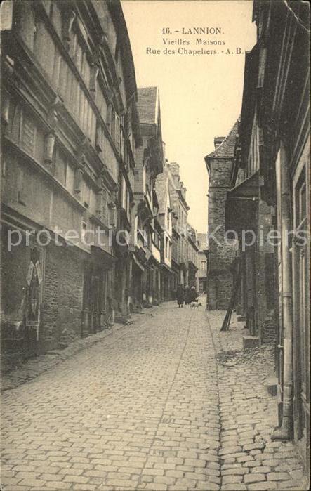 Lannion Vieilles Maisons Rue des Chapeliers Kat. Lannion