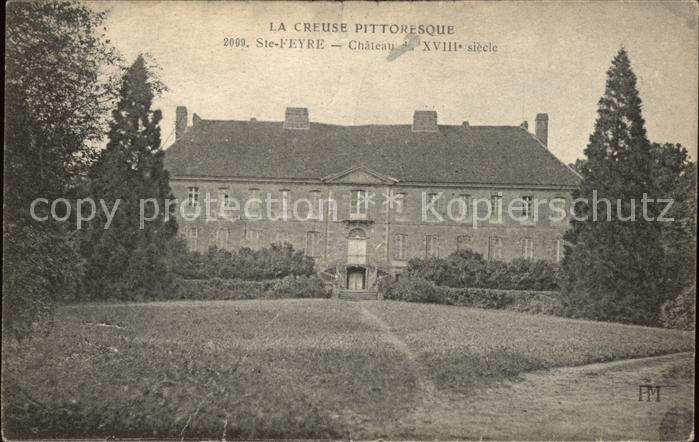 Sainte Feyre Chateau du XVIII siecle Kat. Sainte Feyre