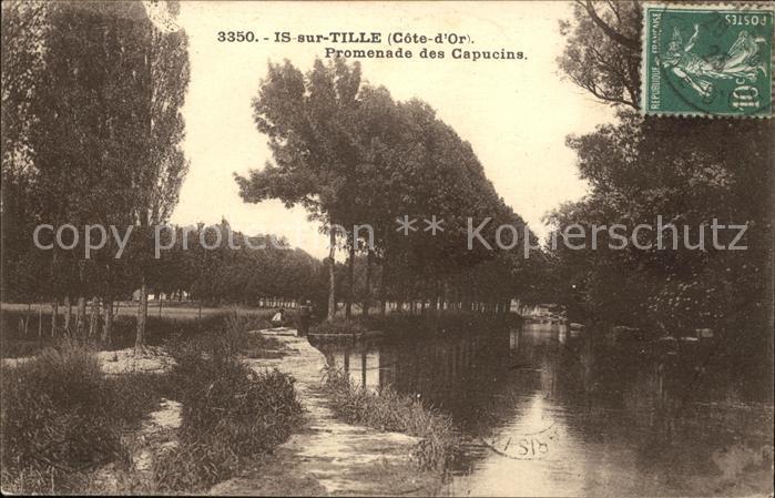 Is sur Tille Promenade des Capucins Stempel auf AK Kat. Is sur Tille