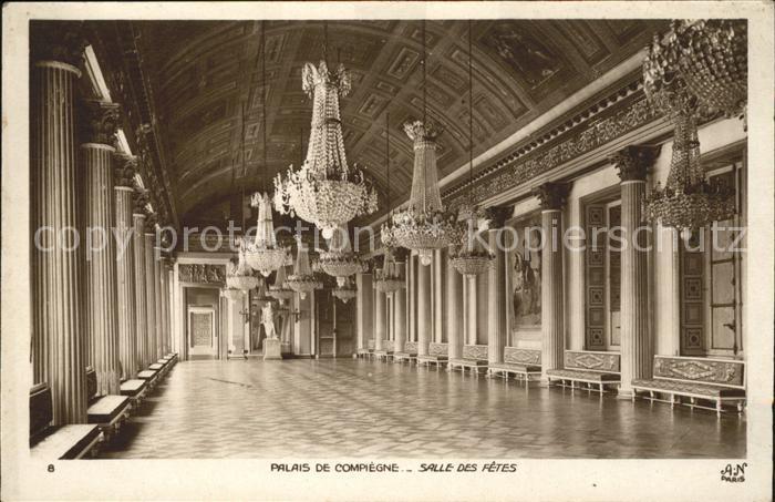 Compiegne Oise Palais Salles des Fetes Kronleuchter Kat. Compiegne