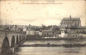 Pont de l Arche Perspective sur le Pont et la Ville Kat. Pont de l Arche