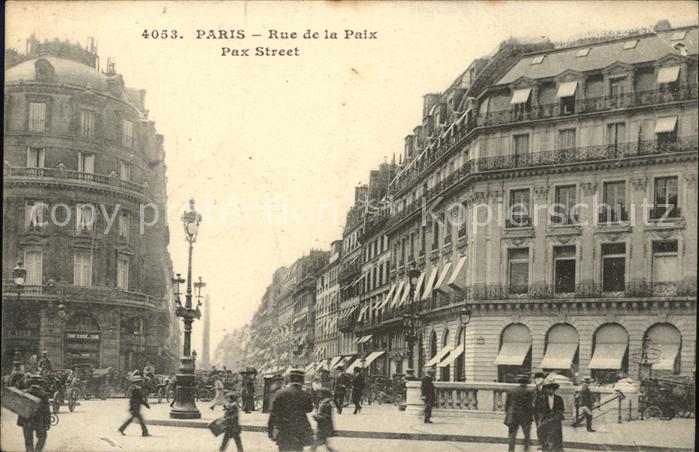 Paris Rue de la Paix Kat. Paris