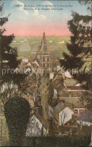 Dreux Hotel de Ville et la Grande Rue vue prise de la Chapelle Saint Louis Kat. Dreux