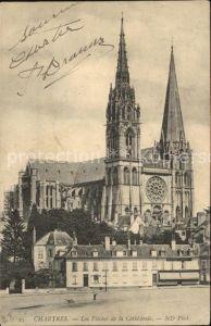 Chartres Eure et Loir Fleches de la Cathedrale Kat. Chartres
