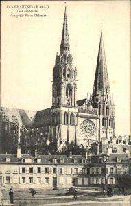 Chartres Eure et Loir Cathedrale Place Chatelet Kat. Chartres