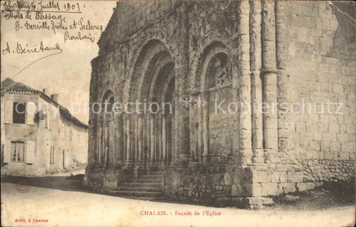 Chalais Charente Facade de l Eglise Kat. Chalais