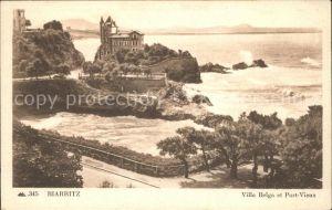 Biarritz Pyrenees Atlantiques Villa Belga et Port Vieux Kat. Biarritz