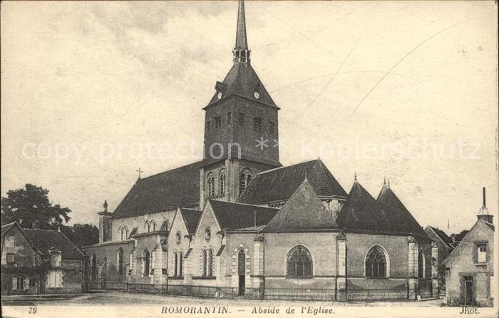 Romorantin Lanthenay Abside de l Eglise Kat. Romorantin Lanthenay