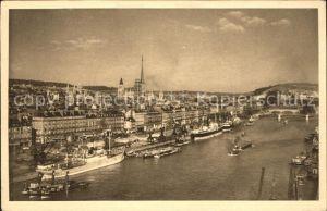 Rouen Port et la Ville Bateau Kat. Rouen