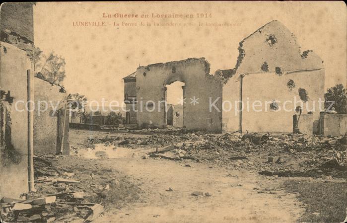 Luneville Ferme de la Faisanderie Ruines Grande Guerre 1. Weltkrieg Kat. Luneville