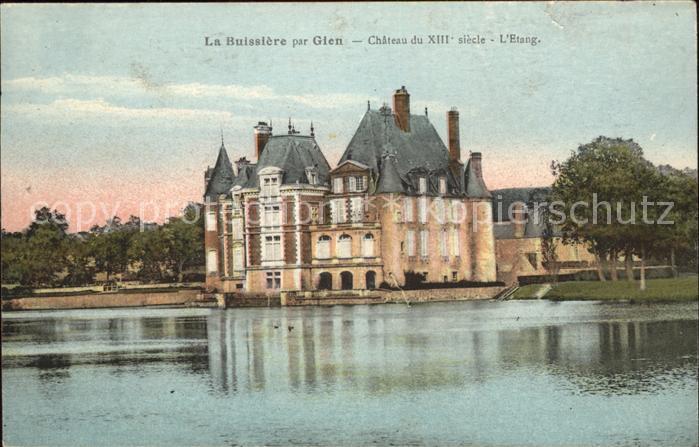 La Buissiere Chateau du XIII siecle Etang Kat. La Buissiere