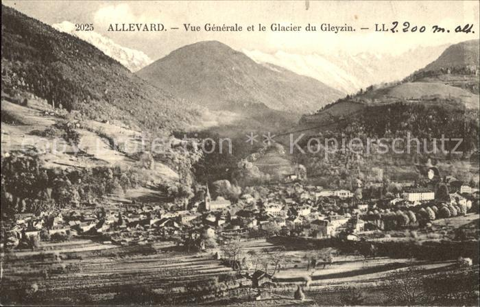 Allevard les Bains Isere Vue generale Glacier du Gleyzin Gletscher Kat. Allevard