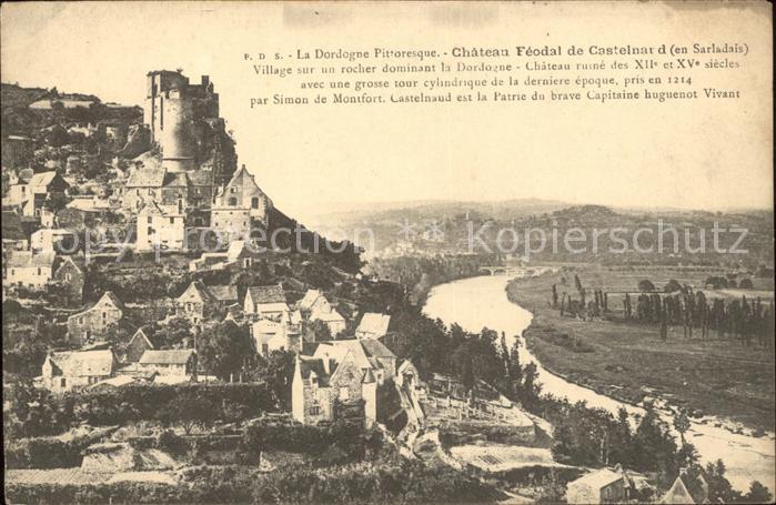 Castelnaud la Chapelle Chateau Feodal Histoire Kat. Castelnaud la Chapelle