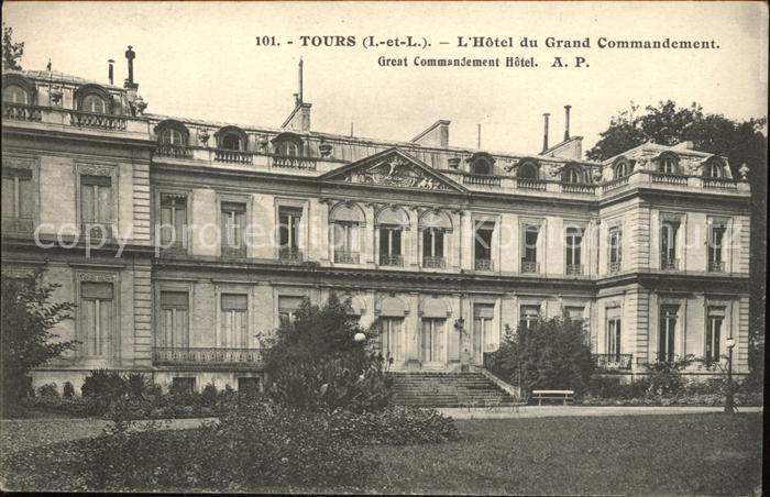 Tours Indre et Loire Hotel du Grand Commandement Kat. Tours