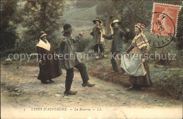 Vichy Allier La Bourree Types d Auvergne Dance Kat. Vichy