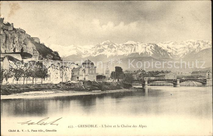 Grenoble Isere et la Chaine des Alpes Kat. Grenoble